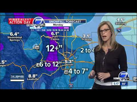 Snow for Denver late Sunday into Monday