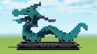 Статуя дракона в майнкрафте