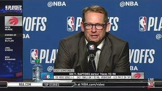 Nick Nurse PostGame Conference; Game 7: Raptors def. 76ers 92-90; Kawwhi: 41 Pts   NBA Playoffs