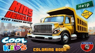 ☀ Kids Vehicles City Trucks & Buses ☀ Fire truck ☀ Garbage truck☀ Dump truck ☀ Cool Apps For Kids ☀