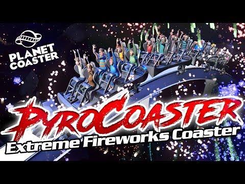 PYRO COASTER! Extreme Fireworks Ride! Coaster Spotlight 262 #PlanetCoaster