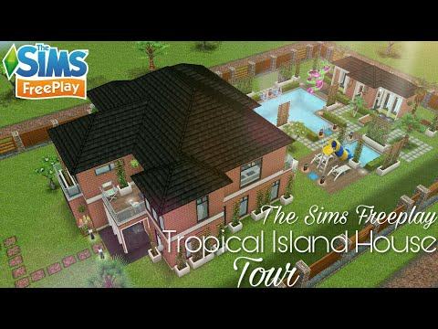 The Sims Freeplay [Tropical Island House] Tour 🍃🌴🌵🌳