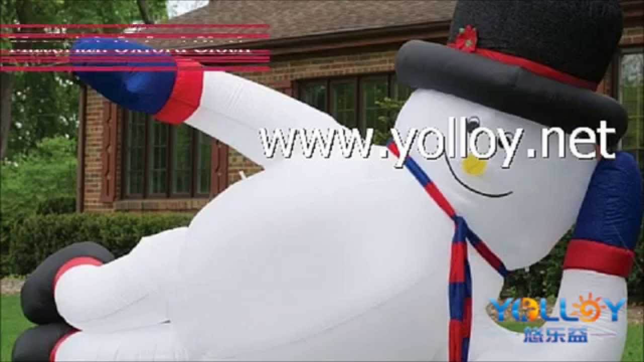 Inflatable Christmas Decorations - YouTube