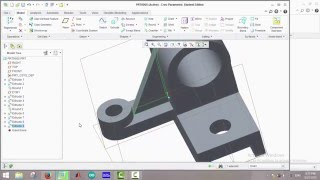Creo Parametric 2.0 Tutorials - #8: Example3 on 3D Drawing