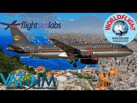 FSlabs A320 On Vatsim. Samos To Amman (WorldFlight 2017)