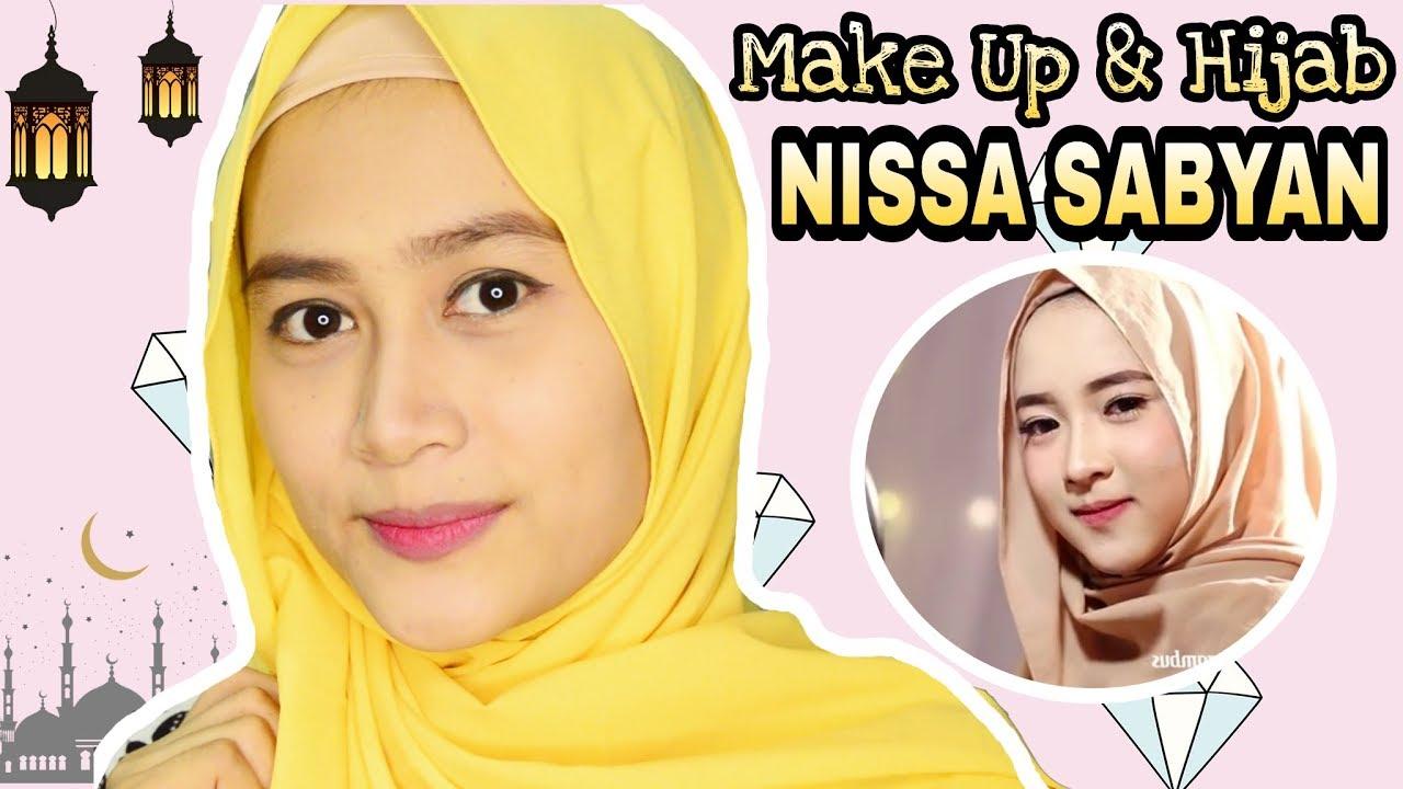 tutorial make up dan hijab kekinian inspirasi nissa sabyan gambus