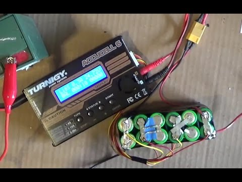 DIY: How to Balance charge Li ion/ Lipo battery pack w/ a balance charging cable Imax B6 Accucell 6