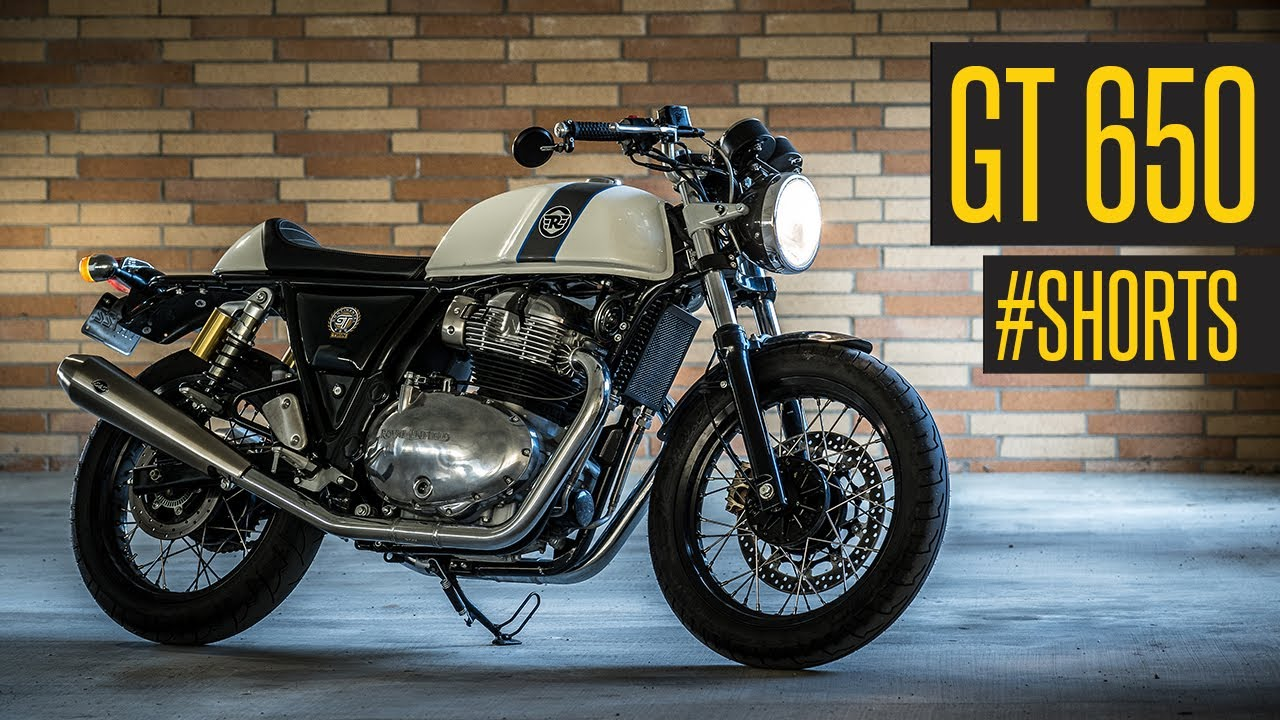 royal enfield continental gt 650 start up with s s exhaust shorts