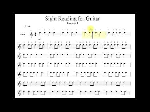 Sight Reading For Guitar Level 001 Exercise 1