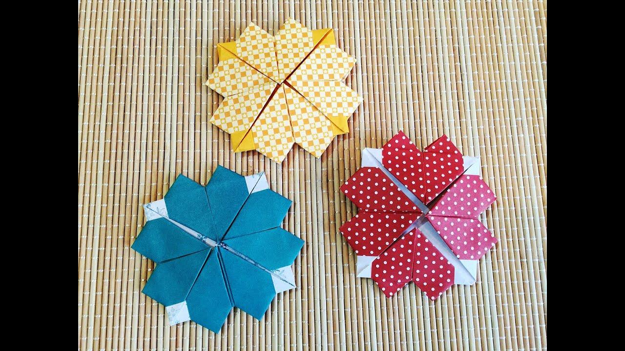 Origami Leaf Clover - วิธีพับใบโคลเวอร์ (รูปหัวใจ) - YouTube - photo#22