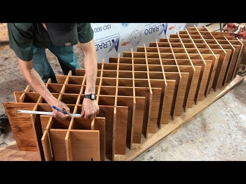 woodworking-projects-(part--4)---make-wooden-diamond-wine-rack-//-wooden-partition-wall-designs