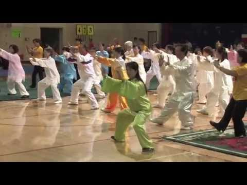 Master Gao Jia Min and Group Demostrate 42 Tai Chi