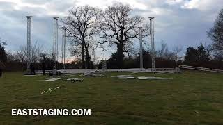 F34 PL Global Truss Stage Canopy UK Stage Hire festivals