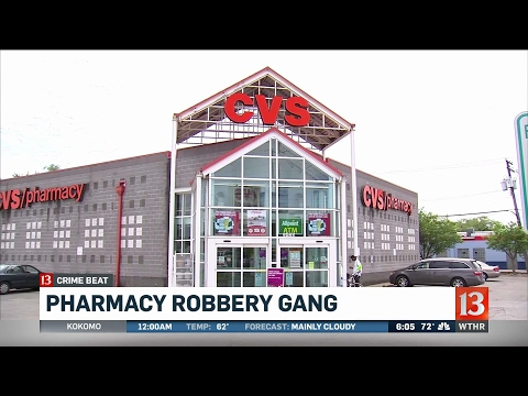Federal charges in robberies of pharmacies