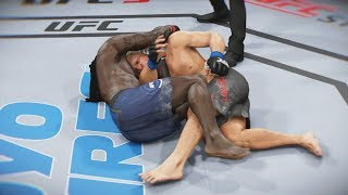 UFC 3 GOAT Career Mode - The D'Arce! Caught a Kick! EA Sports UFC 3 Gameplay PS4