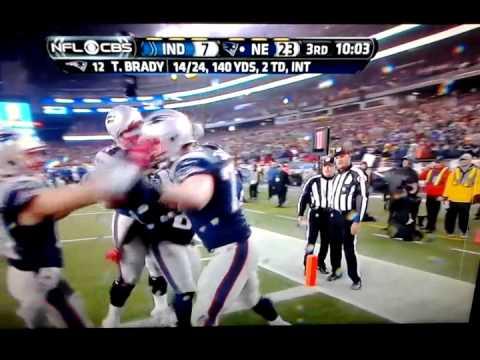 Nate Solder OL td Patriots vs Colts- AFC title