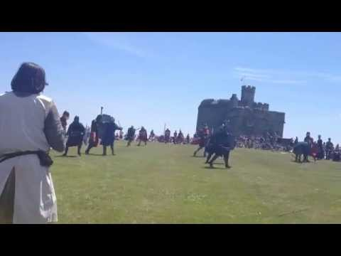 Fighting Knights At Pendennis Castle, Falmouth, Cornwall