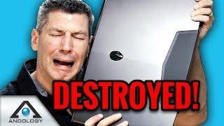 👽 Alienware $5k Gaming Laptop 💥 DESTROYED! Laptop Insurance Claim: M17 vs Area 51m?