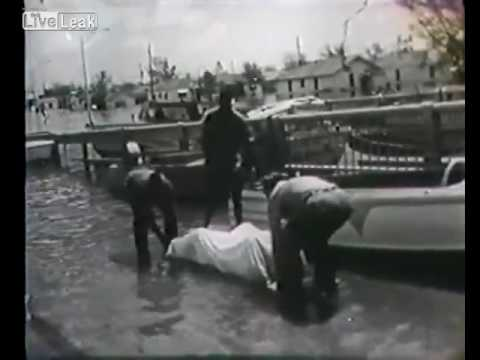 LiveLeak - Historical Footage of New Orleans During Hurricane Betsy - 1965