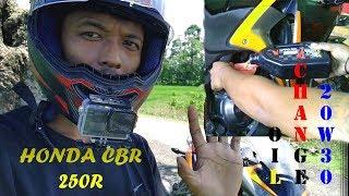 Honda CBR 250R-MOTOR ölwechsel ein SAE 20W-30 39000 K/Ms Getrieben