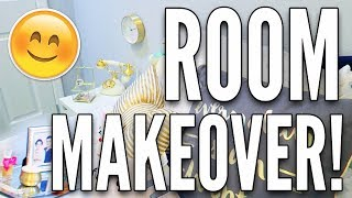 EXTREME Bedroom MAKEOVER 2017! White and Gold