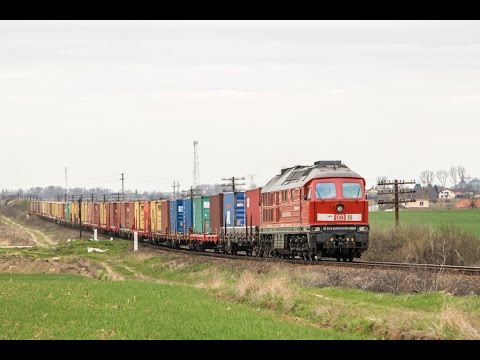 Heavy freight trains in south Romania (CFR Marfa and DB Cargo)