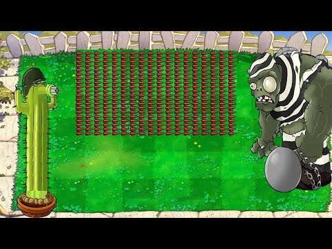 Plants vs Zombies Hack - 999 Cactus vs All Zombies Minecraft