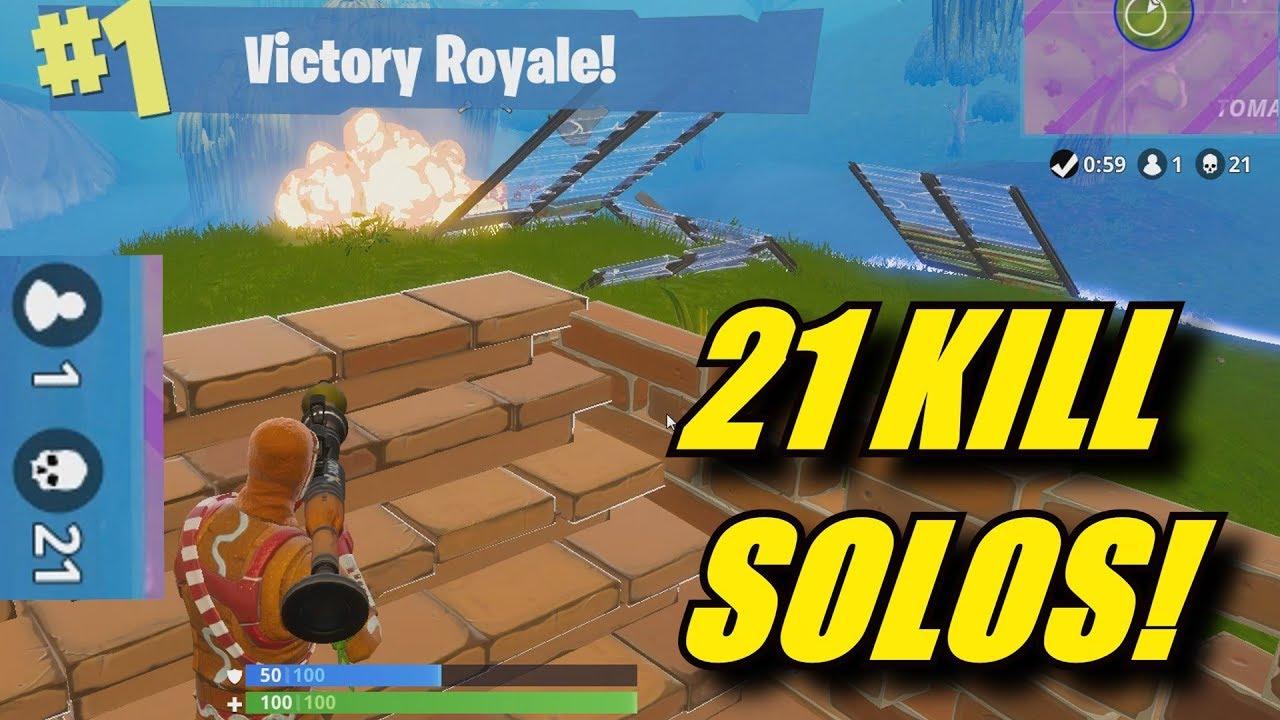 21 Kill Solo Win Full Fortnite Gameplay