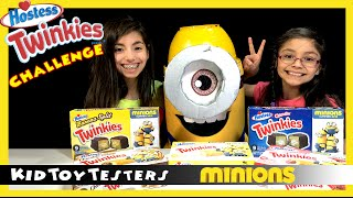 Twinkies Minions Cake Review Tasting Challenge | Kidtoytesters
