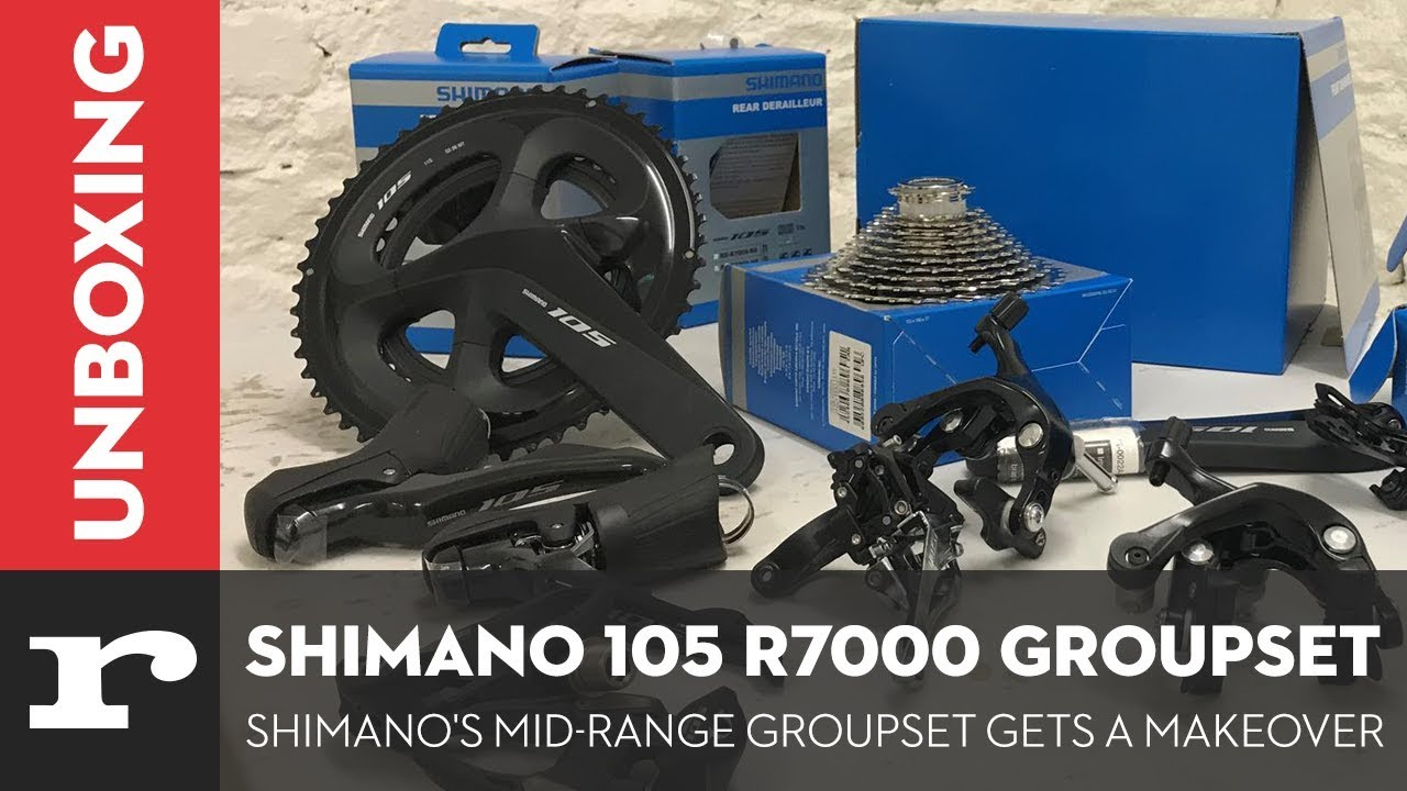 ecb1dc27790 Unboxing the new Shimano 105 R7000 Groupset - YouTube