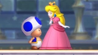 Play As Blue Toad Secret Character in New Super Mario Bros U Deluxe Final Boss & Ending (No Damage)