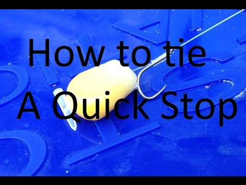 How to attach a quick bait stop to a hair rig