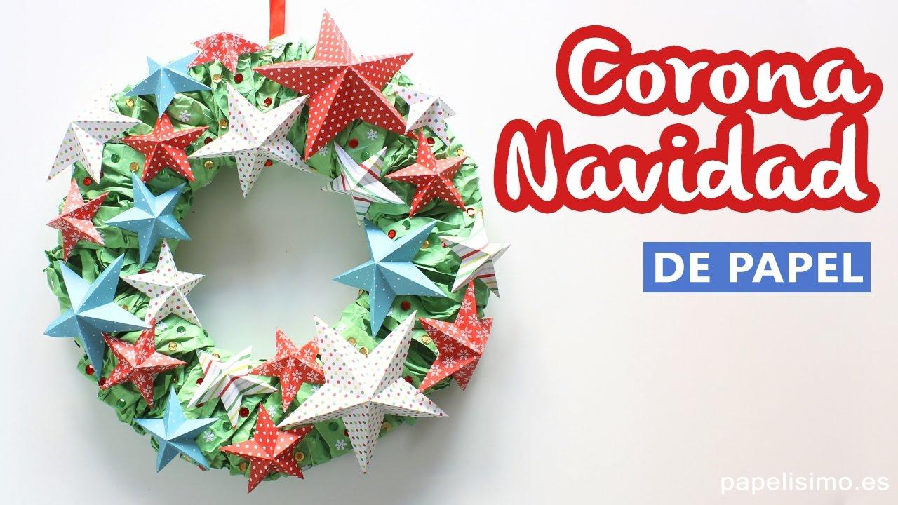 Manualidades de navidad corona de adviento con estrellas for Cosas artesanales para navidad