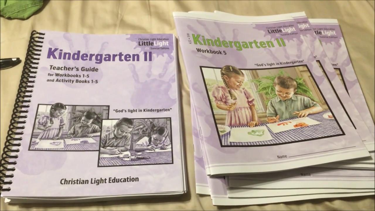 Christian Light Education Kindergarten Homeschool Curriculum - YouTube