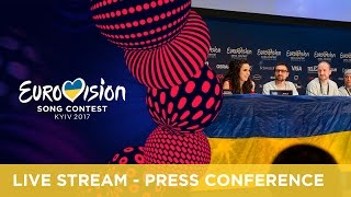 Eurovision Song Contest 2017 - Winners' press conference - First Semi-Final