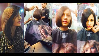 Mumbai's Girl Getting Blunt Haircut