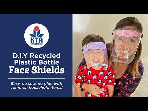 D.I.Y Plastic Bottle Face Shields
