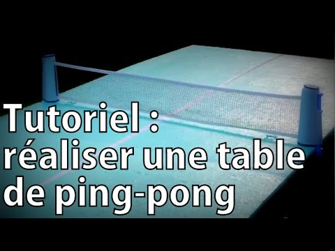 tutoriel r aliser facilement une table de ping pong youtube. Black Bedroom Furniture Sets. Home Design Ideas