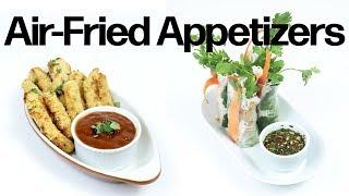 "Vegan Air Fryer Appetizers | Vegan Mushroom ""Mozzarella"" Sticks + Vegan Thai Beef Jerky Spring Rolls"