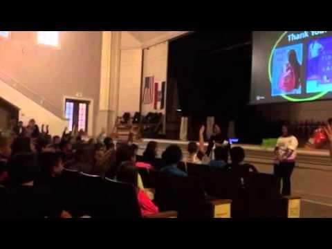 Mark Twain Award nominated author visits Bueker Middle School