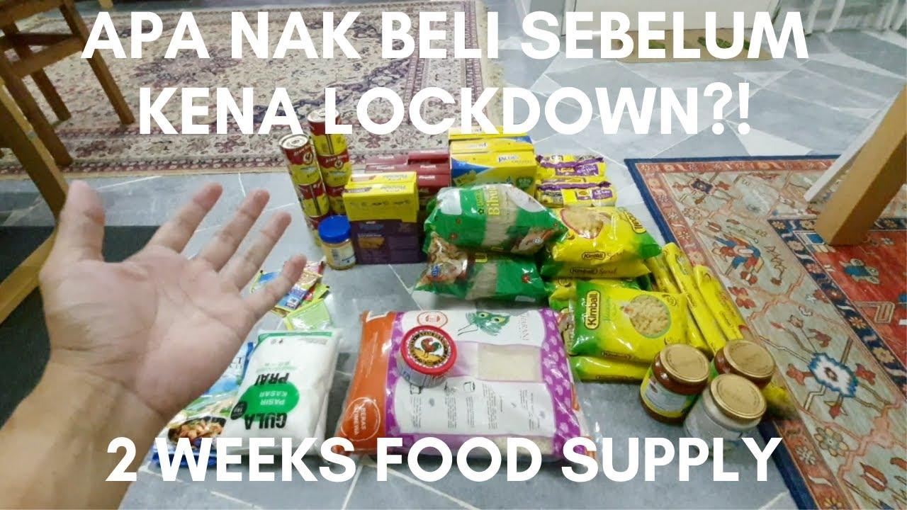 Apa nak beli sebelum lockdown?! 2 weeks food ration. #LockDownMalaysia