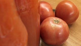 Томатный сок из свежих помидоров / How to make Tomato juice ♡ English subtitles