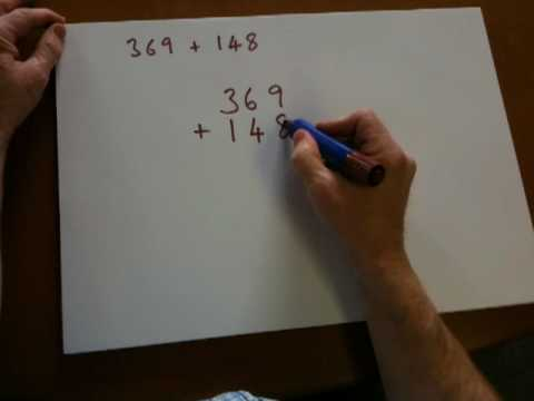 Using the number-line for addition with ages 8-9