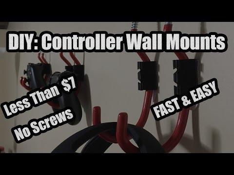 DIY: Game Controller Wall Mounts (UNDER $7.00) - Damage Free