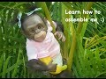 watch he video of How to assemble a  Chimpanzee Reborn Monkey Baby - Miracle Babies Newborn Nursery