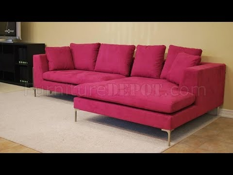 Pink Sectional Sofa - YouTube