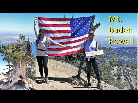2019 Mt  Baden Powell from Vincent Gap on the PCT