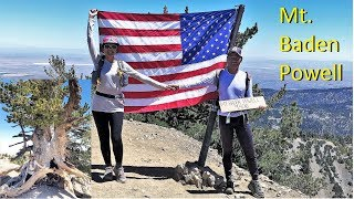 Download 2019 Mt.  Baden Powell from Vincent Gap on the PCT
