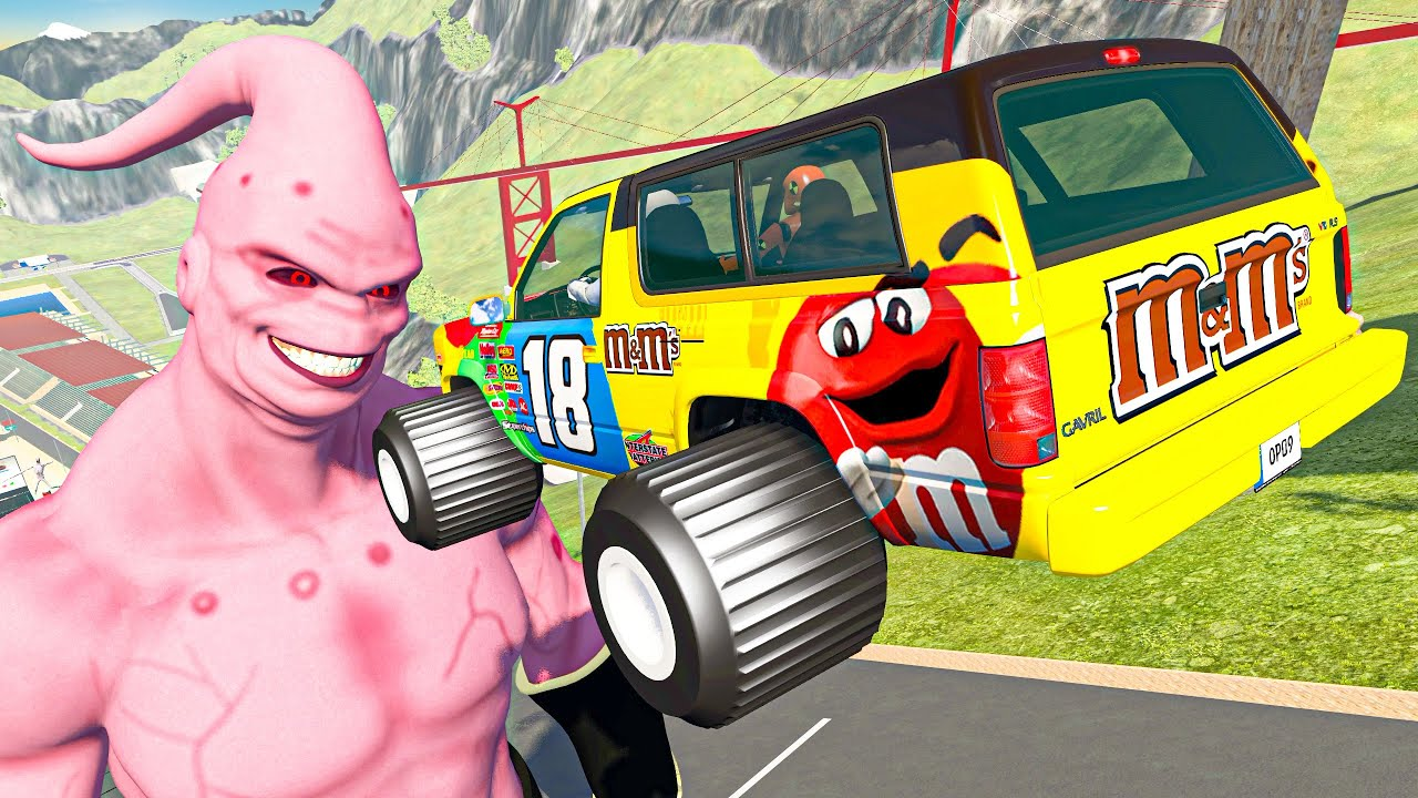 BeamNG Drive Fun Madness - Crazy Cars Jumping Over Super Boo | Random Cars Crashes Compilation