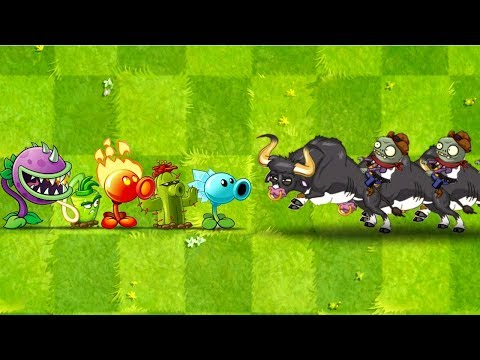 Plants vs Zombies 2 Every Plant Power-Up! vs Rodeo Legend Zombie